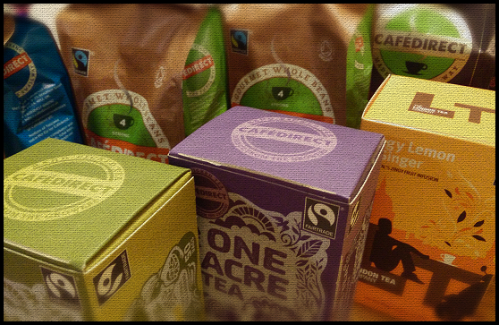 Januty Shopper stall - fairtrade teas