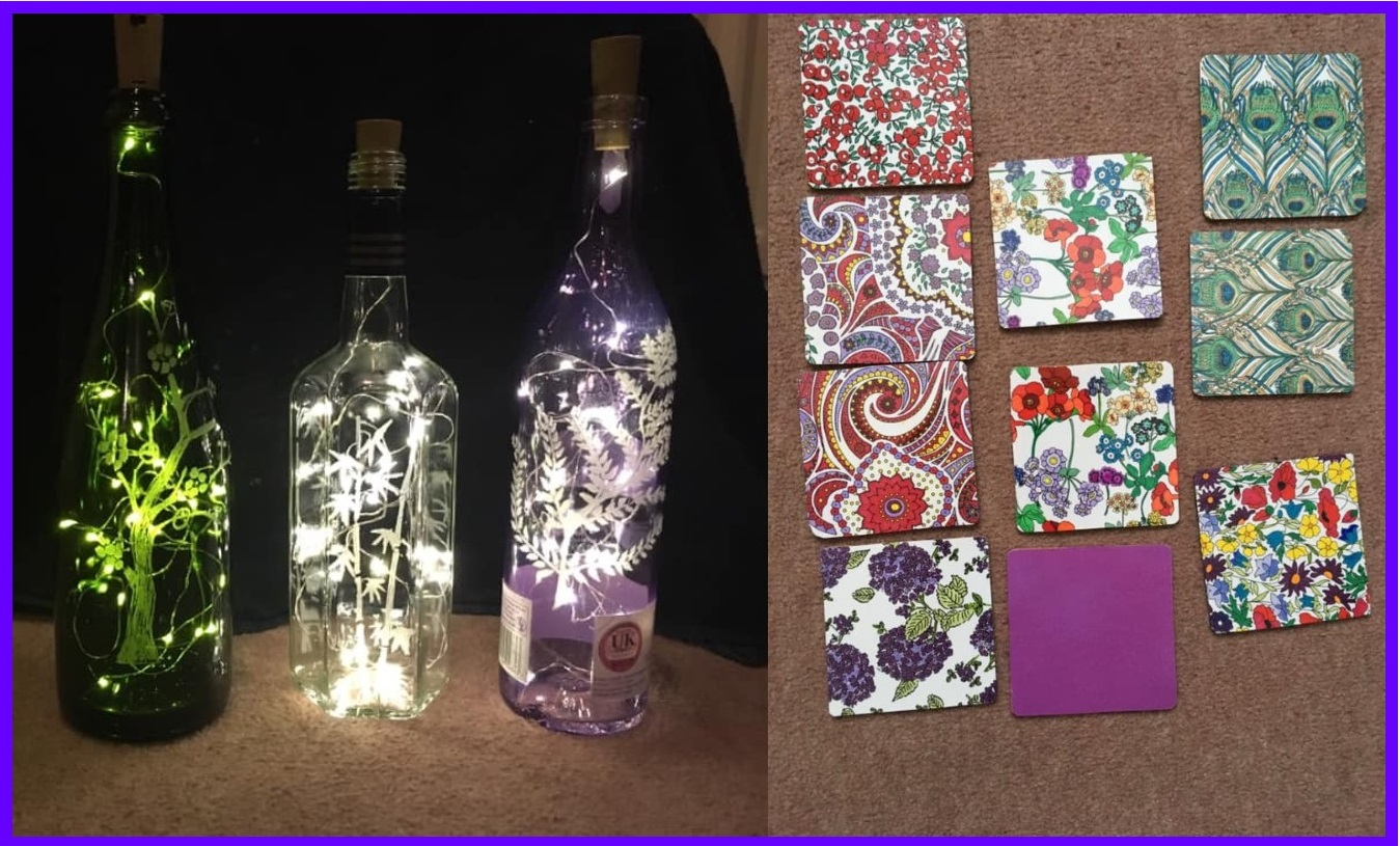 Jaynes glass and lavender collage