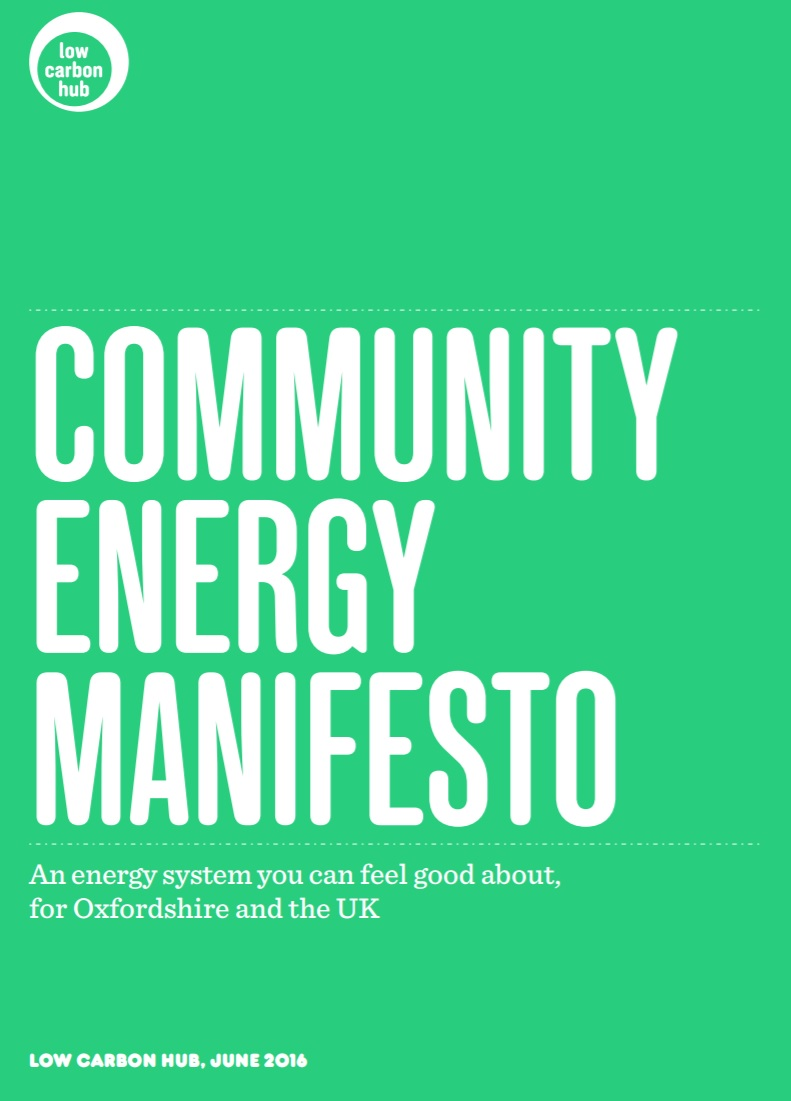 Low Carbon Hub Community Energy Manifesto image